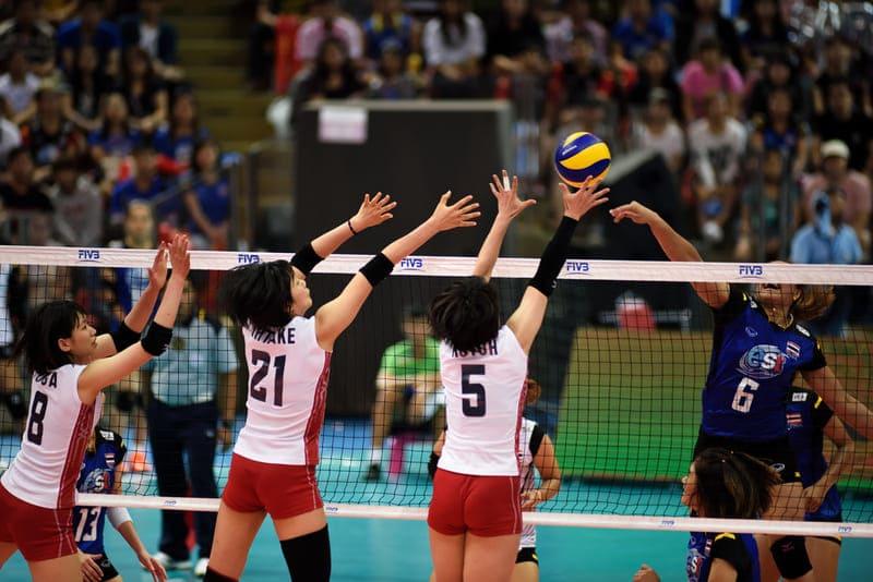 日本選手のブロックジャンプ